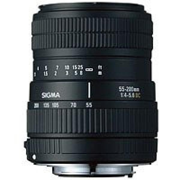 Sigma 55-200/4-5,6 DC digital Objektiv EF(-S) für Canon-31