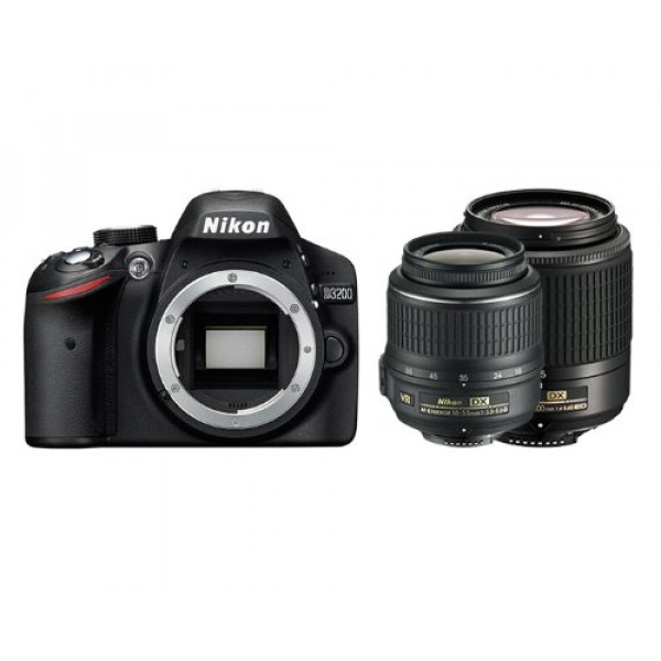 Nikon D3200 SLR-Digitalkamera (24 Megapixel, 7,6 cm (3 Zoll) Display, Live View, Full-HD) Double Zoom Kit inkl. AF-S DX 18-55VR + 55-200VR Objektiv schwarz-39