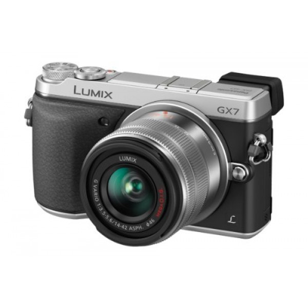 Panasonic Lumix DMC-GX7 Systemkamera (16 Megapixel, 7,5 cm (3 Zoll) Display, Full HD, optische Bildstabilisierung, WiFi, NFC) mit Objektiv H-FS1442AE-S schwarz/silber-33