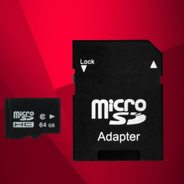 Flash-Speicherkarte, Class 10, 64 GB, Micro SD, SDHC, TF, mit Adapter-31