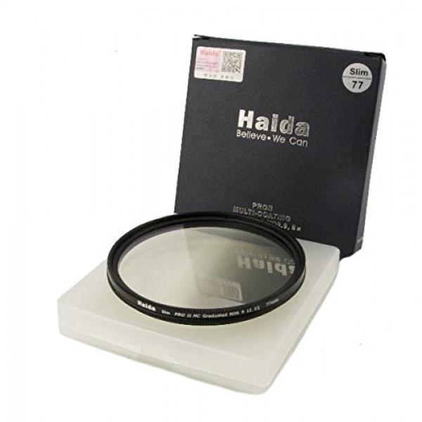 HAIDA Slim Pro II MC Optical GND Verlaufsfilter 0,9 (8x) (12,5 %) 77mm inkl. Cap-31