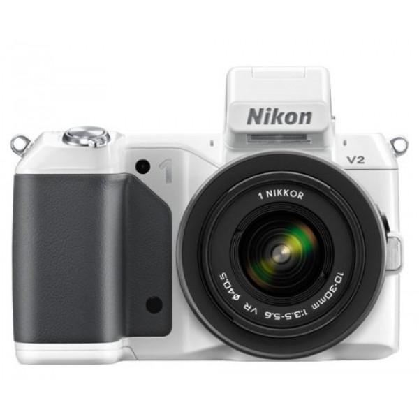 Nikon 1 V2 Systemkamera (14 Megapixel, 7,5 cm (3 Zoll) Display, Hybrid-Autofokus, superhochauflösender elektronischer Sucher, Full-HD Video) weiß Kit inkl. 10-30 mm VR Objektiv-38
