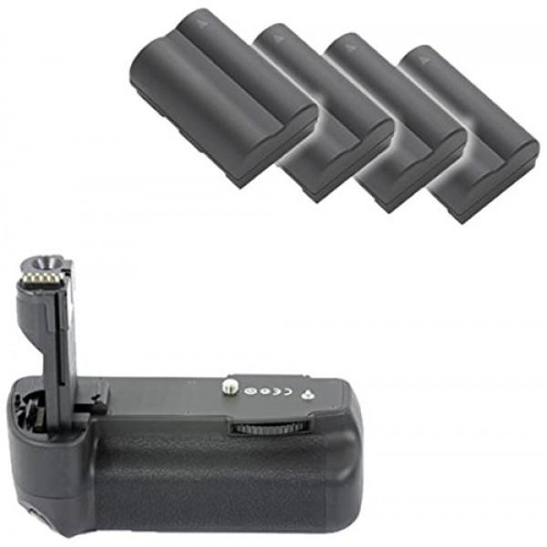 Minadax Profi Batteriegriff für Canon EOS 50D, 40D, 30D als BG-E2N, BG-E2 Ersatz + 4x BP-511A Nachbau-Akkus-39