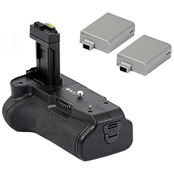 Minadax Batteriegriff and 2 Akkus wie LP-E8 für Canon EOS 650D, 600D und 550D ersetzt BG-E8, inklusive 2x Akku Power-39