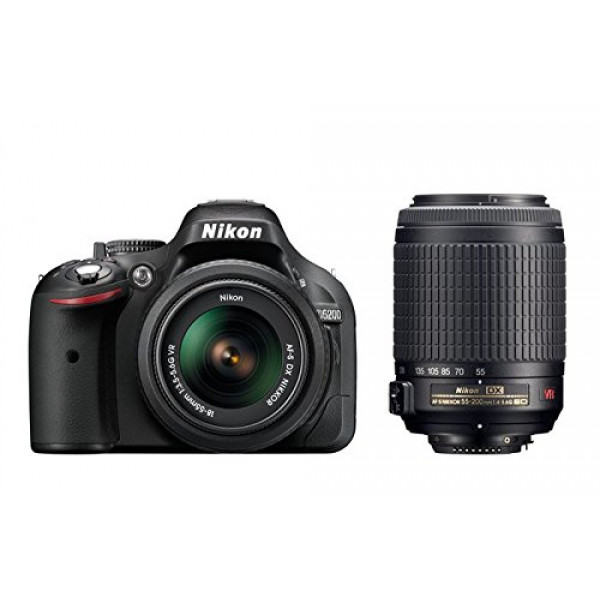 Nikon D5200 SLR-Digitalkamera (24,1 Megapixel, 7,6 cm (3 Zoll) TFT-Display, Full HD, HDMI) Double-Zoom-Kit inkl. AF-S DX 18-55 mm VR und 55-200 mm Objektiv schwarz-34