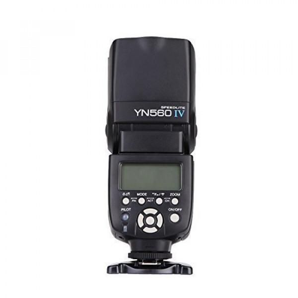 YONGNUO YN560 IV 2.4GHZ Blitz Speedlite Wireless Transceiver Integrierte für Canon Nikon Panasonic Pentax Kamera+WINGONEER® Diffusor-39