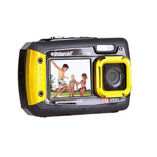 """Unterwasser-Wasserdicht Stoßfest Staubdicht 18 Megapixel Digitalkamera Polaroid IE090 Kompaktkamera (18MP, 2 Bildschirme: 2.7 """"zurück, 1.7"""" vor, wasserdicht bis 3 Meter) (Gelb)-31"""