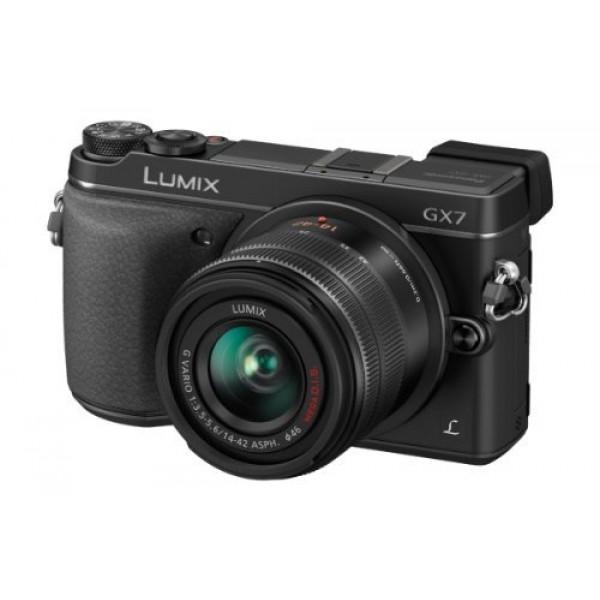 Panasonic Lumix DMC-GX7 Systemkamera (16 Megapixel, 7,6 cm (3 Zoll) Display, Full HD, optische Bildstabilisierung, WiFi, NFC) Kit inkl. H-FS1442AE-K Objektiv schwarz-34