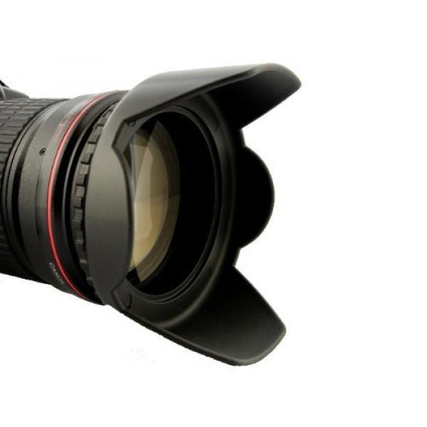 Sonnenblende Universal 62mm z.B für Tamron AF 28-300mm XR DI VC/ AF 70-300mm DI LD / AF 18-200mm XR DI II u.v.a. + Pro Lens Cap 62mm-33