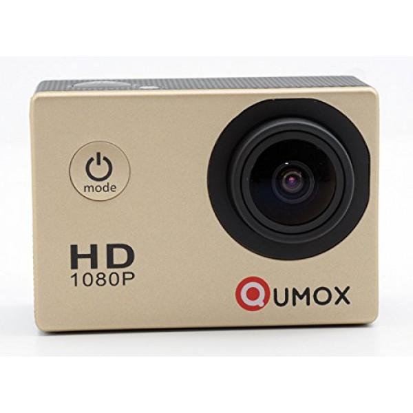 QUMOX SJ4000 SJ4000 Gold-Action-Sport-Nocken-Kamera wasserdichte Full HD 1080p 720p Video Foto Fahrradhelmkamera Wassersport mit Wasserdichtes Gehäuse-35