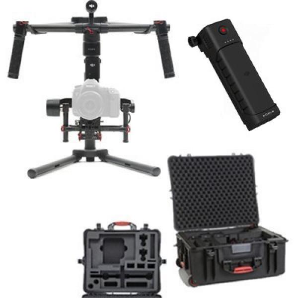 KIT1 RONINM: Kit DJI Ronin-M 3-Axis Handheld Gimbal Stabilizer + HardCase HPRC2700W + Akku PART35-31