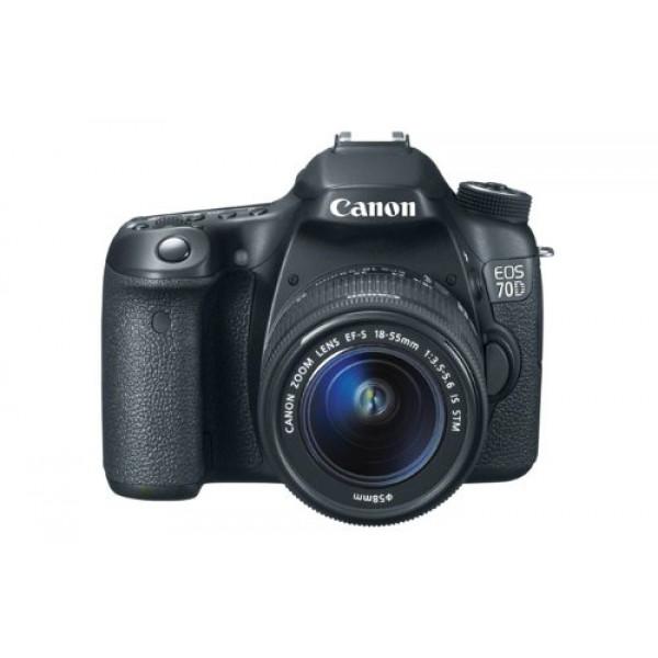 Canon EOS 70D SLR-Digitalkamera (20,2 Megapixel APS-C CMOS Sensor, 7,6 cm (3 Zoll) Display, Full HD, WiFi, DIGIC 5+ Prozessor) Kit inkl. EF-S 18-55mm 1:3,5-5,6 IS STM Objektiv schwarz-312