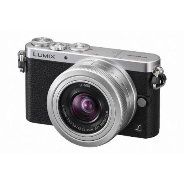 Panasonic Lumix DMC-GM1 Systemkamera (16 Megapixel, 7,6 cm (3 Zoll) Display, Full HD, optische Bildstabilisierung, WiFi) schwarz/silber mit dem Objektiv G Vario 12 bis 32 Millimeter f3.5-5.6-36