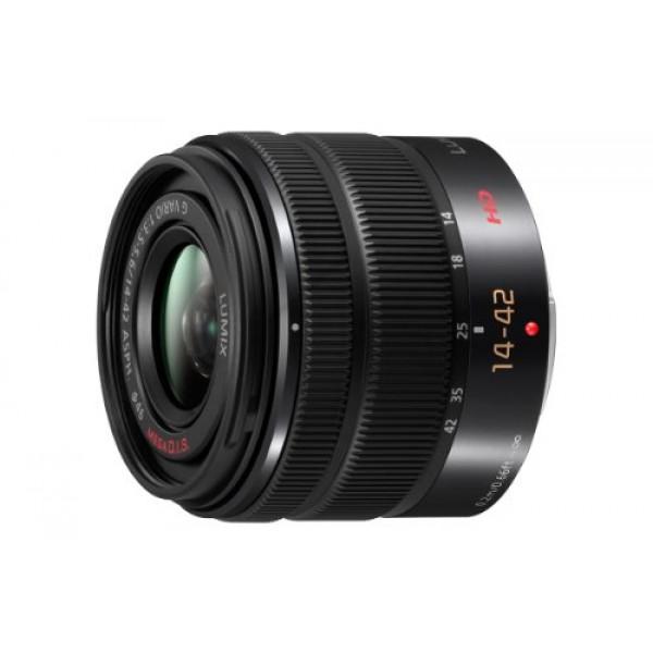 Panasonic H-FS1442AE-K AF-Motor Objektiv F5,6 ASPH OIS (14-42mm, Bildstabilisator) für G-Serie Kamera schwarz-34