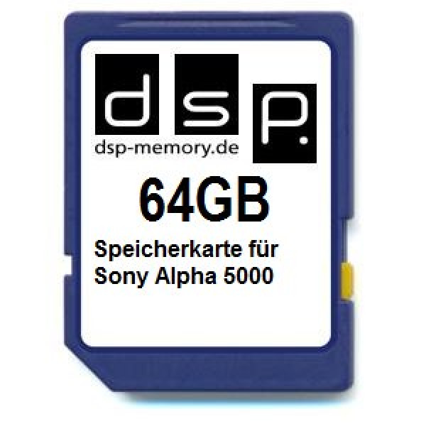 64GB Speicherkarte für Sony Alpha 5000-33