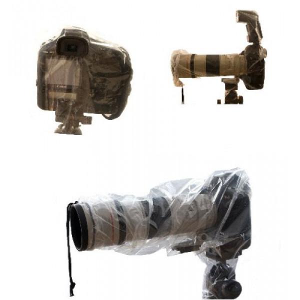 Allwetterschutz / Regencape für alle Spiegelreflexkameras.Set bestehend aus 2 verschiedenen Hauben.-34
