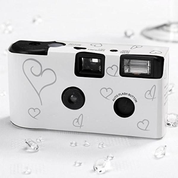 10 Hochzeitskameras Einwegkameras, weiss-31