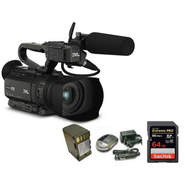 Kit Camcorder GY-HM170 JVC 4K ULTRA HD with handled, microphone JVC MIC-QAN0067 + 1 Battery + 1 Battery charger + 1 Memory Card Sandisk 64Gb 95Mb-31