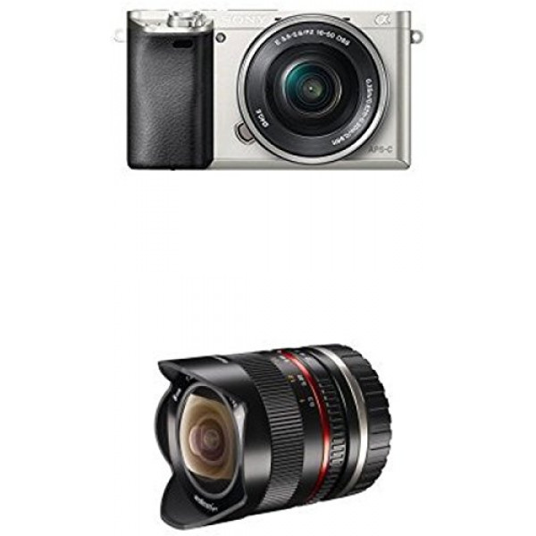 Sony Alpha 6000 Systemkamera inkl. SEL-P1650 Objektiv silber + Walimex Pro 8mm 1:2,8 Fish-Eye II Objektiv-32