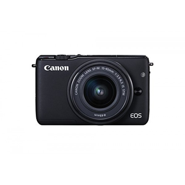 Canon EOS M10 Systemkamera (18 Megapixel, 7,5 cm (3 Zoll) Display, STM, WLAN, NFC, 1080p, Full HD) Kit mit EF-M 15-45mm IS schwarz-311