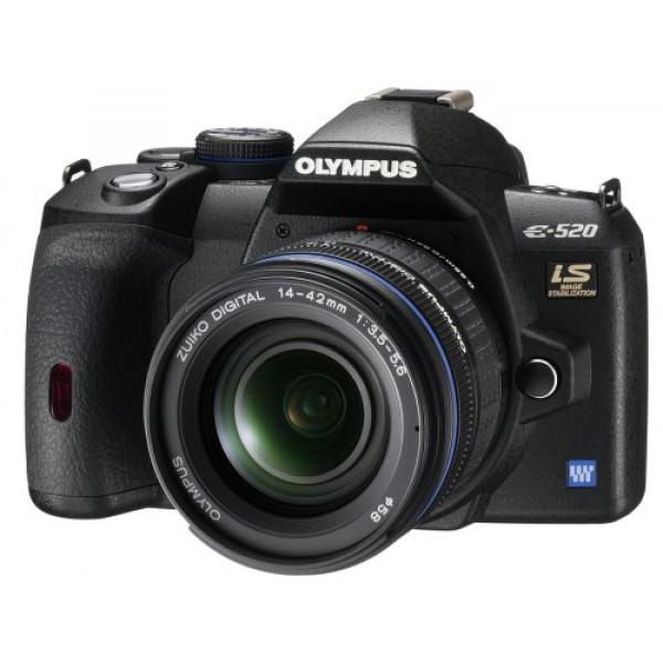 Olympus E-520 SLR-Digitalkamera (10 Megapixel, LifeView, Bildstabilisator) Kit inkl. 14-42mm and 40-150mm Objektive-37