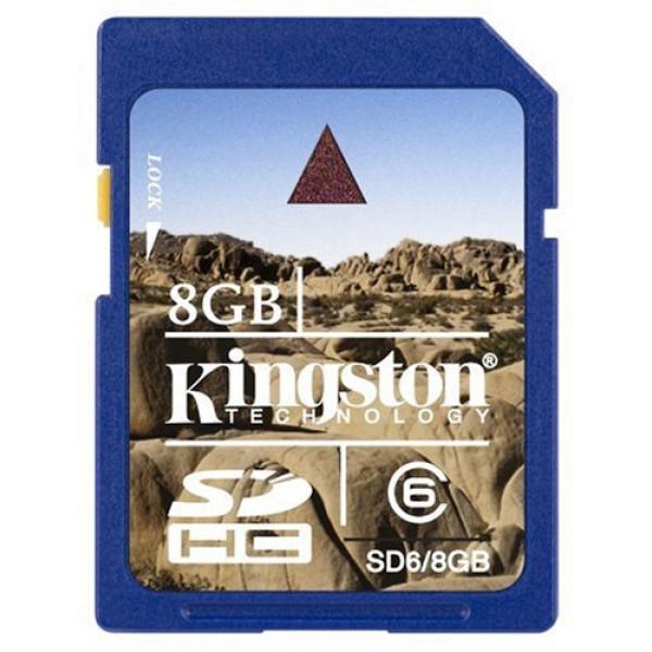 Kingston SD (SDHC) Secure Digital 8GB Class 6-31