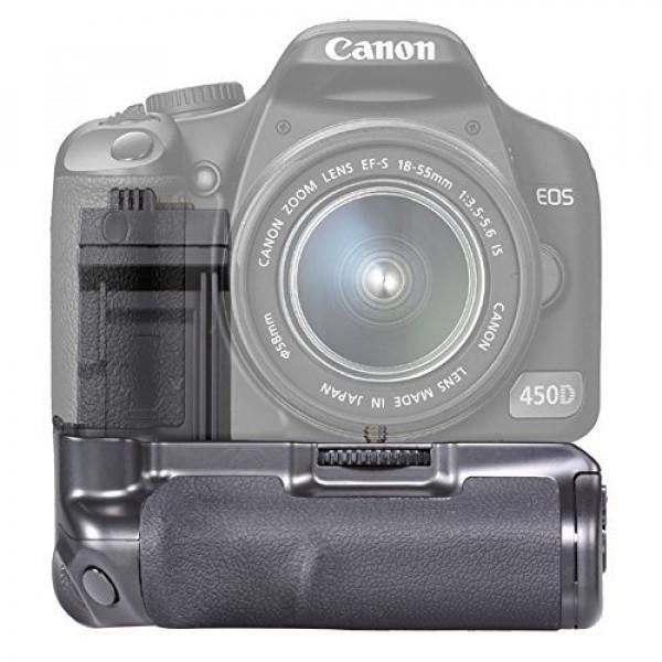 Neewer Vertikaler Auslöser Batteriegriff Akkugriff Battery Grip für Canon 450D/500D/1000D/Rebel XS, XSI, T1i wie der Canon BG-E5, kompatibel mit LP E5 Batterien oder 6 AA Batterien-32
