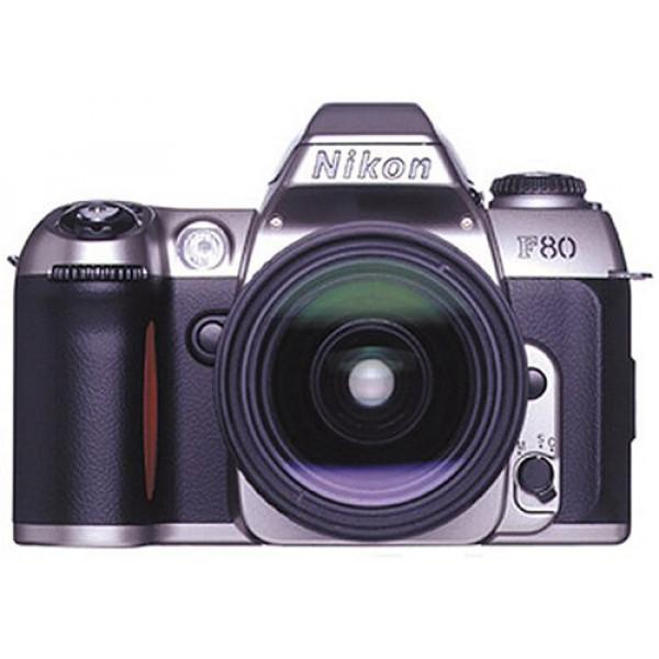 Nikon F80 Spiegelreflexkamera silber inkl. 28-80mm and 70-300mm AF Originalobjektive G-31