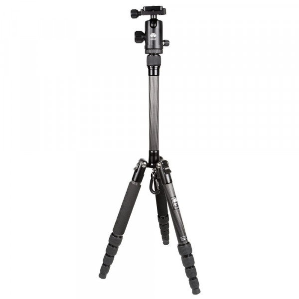 SIRUI T-025X Traveler Ultralight Dreibeinstativ + C-10S Kugelkopf (Carbon, Höhe: 130cm, Gewicht: 0,66kg, Belastbarkeit: 6kg)-35