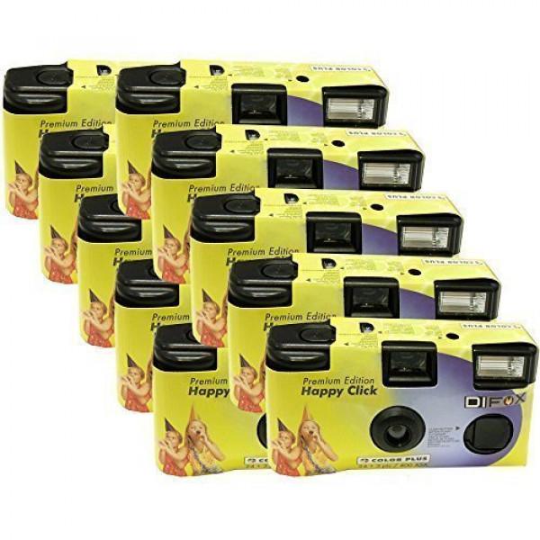 10x PHOTO PORST Einwegkamera / Hochzeitskamera / Partykamera HC gelb (27 Fotos, Blitz, 10-er Pack)-37
