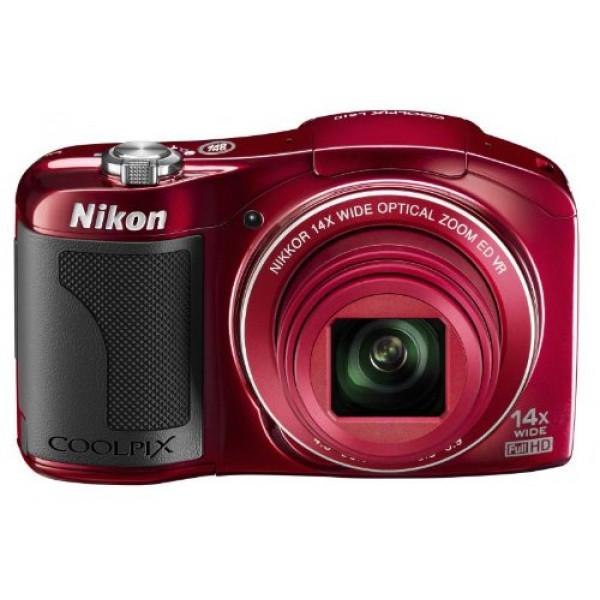 Nikon Coolpix L610 Kompaktkamera (16 Megapixel, 14-fach opt. Zoom, 7,6 cm (3 Zoll) Display) rot-39
