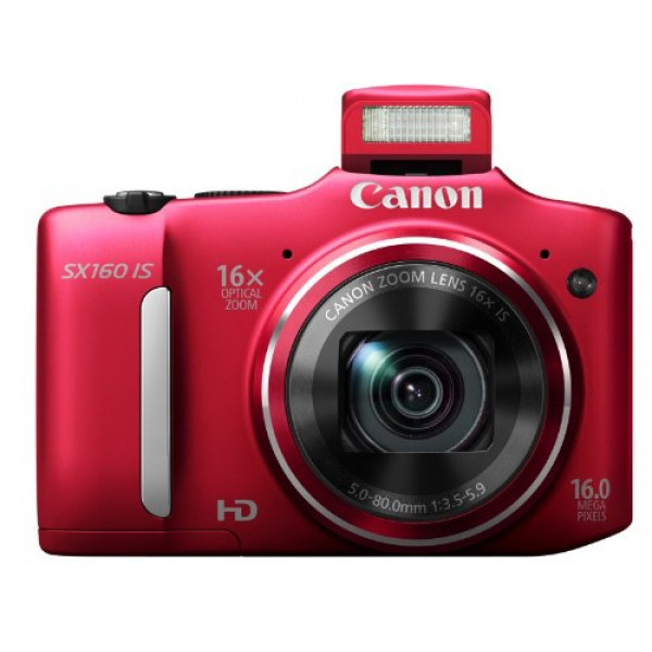 Canon PowerShot SX160 IS Digitalkamera (16 Megapixel, 16-fach opt. Zoom, 7,5 cm (3,0 Zoll) LCD) rot-36