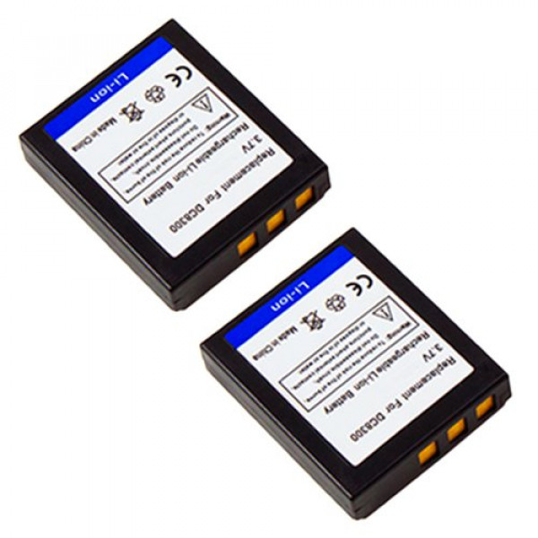 2x MTEC Kameraakku 1000mAh 3,70Wh 3,7V für Medion Maginon Traveler DC 8300 DC 8600 DC-X5 DC-XZ6 DC-7x4 Premier DS8330 DS8650 Minox DC1011 DC8111 DC8122 Acer CR-8530 CP-8531 Avant S8 Megapix VX8 Rollei prego 8300 8330 DP8300 DP8330 RCP-7430xw Compactline 1-31