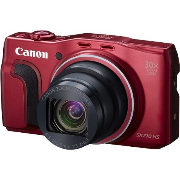 Canon PowerShot SX710 HS Digitalkamera (20,3 Megapixel CMOS, 30-fach optischer Zoom, 60-fach ZoomPlus, HS-System, opt. Bildstabilisator, 7,5 cm (3 Zoll) Display, Full HD Movie 60p, WLAN, NFC) rot-37