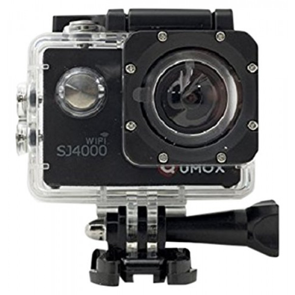 QUMOX Actioncam SJ4000, Wifi Action Sport Kamera, Camera Waterproof, Full HD, 1080p Video, Helmkamera, Schwarz, 117200-31