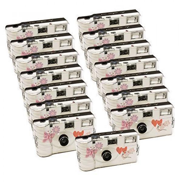 15x PHOTO PORST Hochzeitskamera mit Schmetterling / Einwegkamera / Partykamera (je 27 Fotos, mit Blitz, 15-er Pack)-35