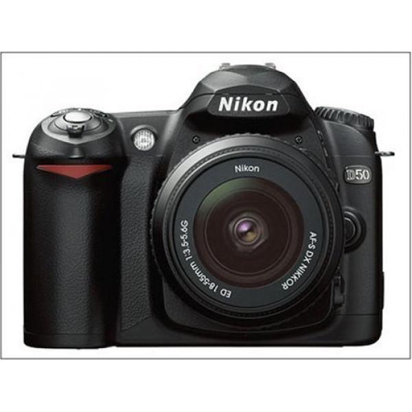 Nikon D50 SLR-Digitalkamera (6 Megapixel) schwarz + DX 18-55-34