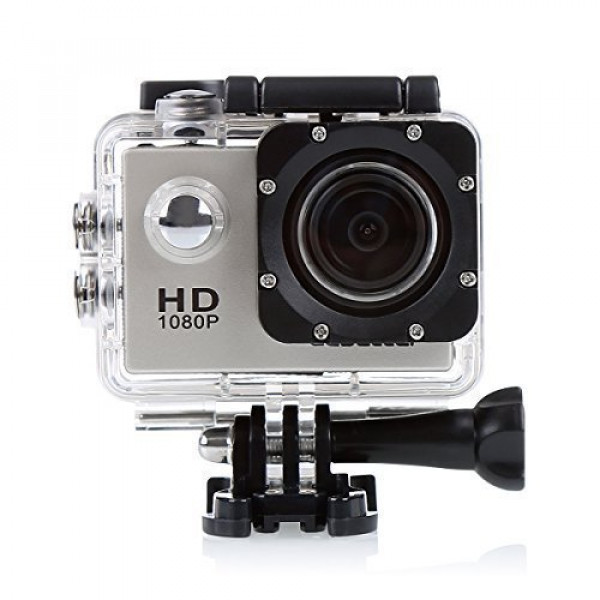 CS710 wasserdichte Action Kamera Fahrrad Helmkamera mit 120 Grad Weitwinkel 12MP HD DVR Auto Recorder Wasserdicht Camcorder (Grau)-39