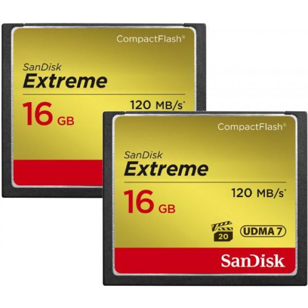 SanDisk Extreme CompactFlash 16GB Speicherkarte Doppelpack-32