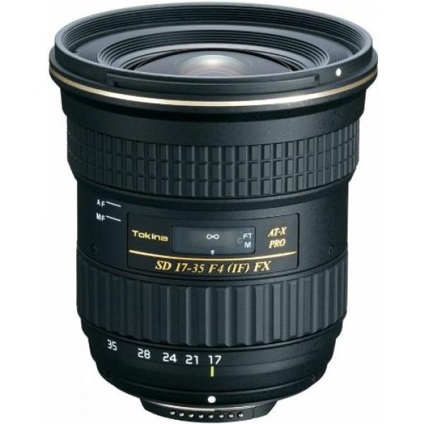 Tokina AT-X 17-35mm/f4.0 Pro FX Weitwinkelzoom-Objektiv (82 mm Filtergewinde) für Canon Objektivbajonett-39
