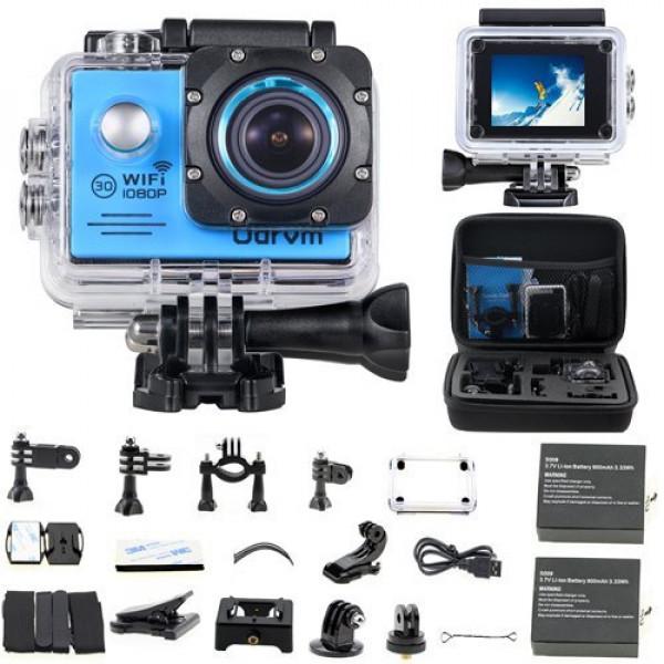 Action Cam WiFi Full HD Unterwasserkamera Digital Wasserdicht 2.0 Zoll LCD Helmkamera Mit 2 Stü. Batteries, Action Kamera für Motorrad, Fahrrad, helm, kinder, drohne, fahrrad, hunde etc-37