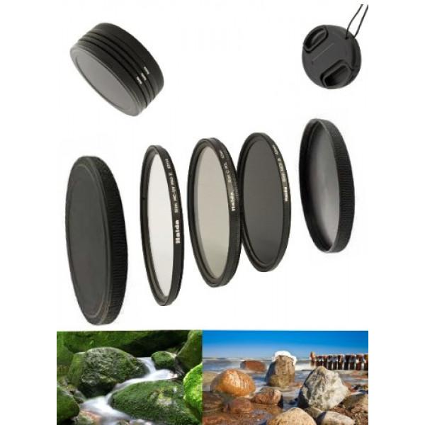 Digital Slim Filter Komplettset Pro für 72mm Objektive Slim UV MC Pro II Slim Zirkular Polfilter Slim ND64 Neutral Graufilter + Bonus-38
