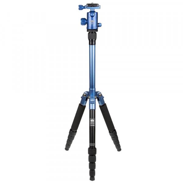SIRUI T-005X Traveler Ultralight Dreibeinstativ + C-10S Kugelkopf (Alu, Höhe: 130cm, Gewicht: 0,83kg, Belastbarkeit: 4kg) blau-35