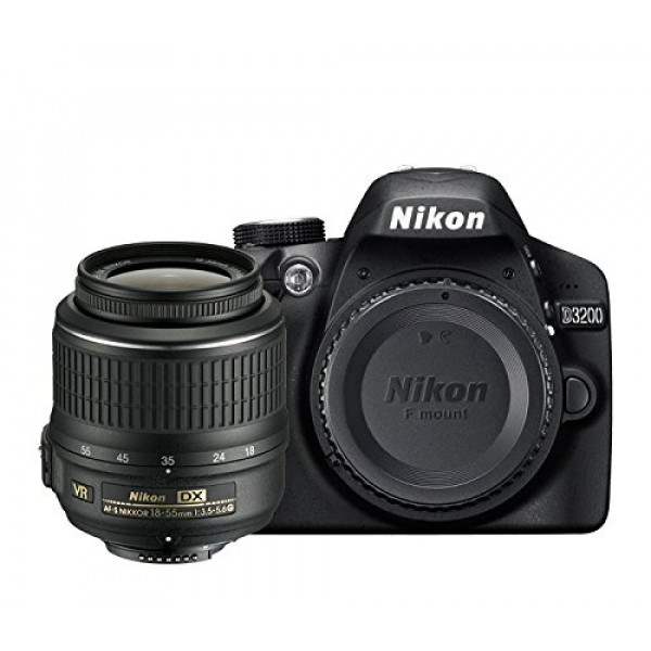 Nikon D3200 SLR-Digitalkamera (24 Megapixel, 7,4 cm (2,9 Zoll) Display, Live View, Full-HD) Kit inkl. AF-S DX 18-55 VR II Objektiv schwarz-36