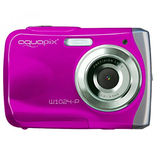Easypix W1024 Splash Digitalkamera (10 Megapixel, 4-fach digitaler Zoom, 6,1 cm (2,4 Zoll) Display) pink-35