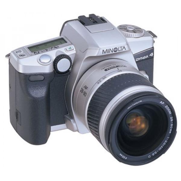 Minolta Dynax 4 Spiegelreflexkamera silber mit Objektiv AF 3,5-5,6 / 28-80mm-32