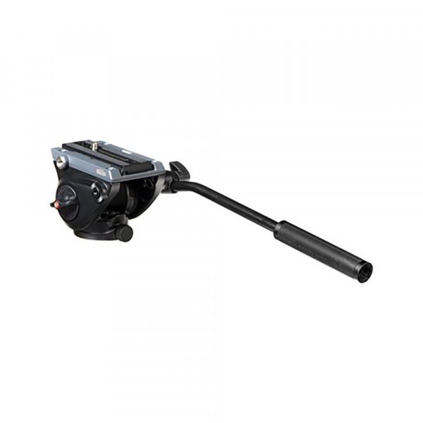 Manfrotto MVH500AH Kompakt Fluid Videoneiger (Inkl. flacher Basis (1/4 Zoll) und (3/8 Zoll) Gewinde) schwarz-312