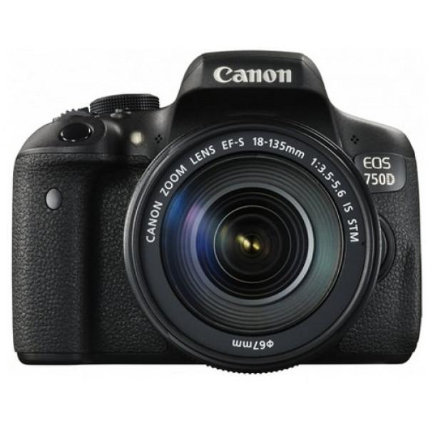 Canon EOS 750D SLR-Digitalkamera (24 Megapixel, APS-C CMOS-Sensor, WiFi, NFC, Full-HD) Kit inkl. EF-S 18-135 mm IS STM Objektiv schwarz-36