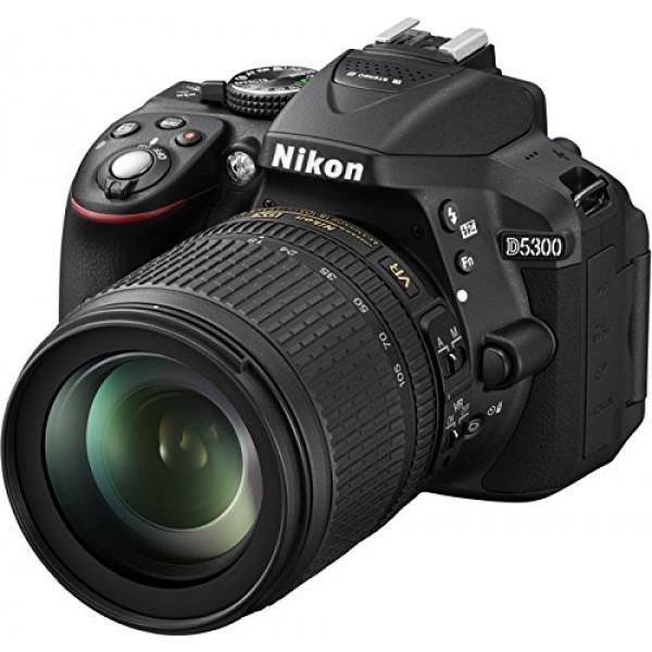 Nikon D5300 SLR-Digitalkamera (24,2 Megapixel, 8,1cm (3,2 Zoll) LCD-Display, Full HD, HDMI, WiFi, GPS, AF-System mit 39 Messfeldern) Kit inkl. AF-S DX 18-105 VR Objektiv schwarz-37