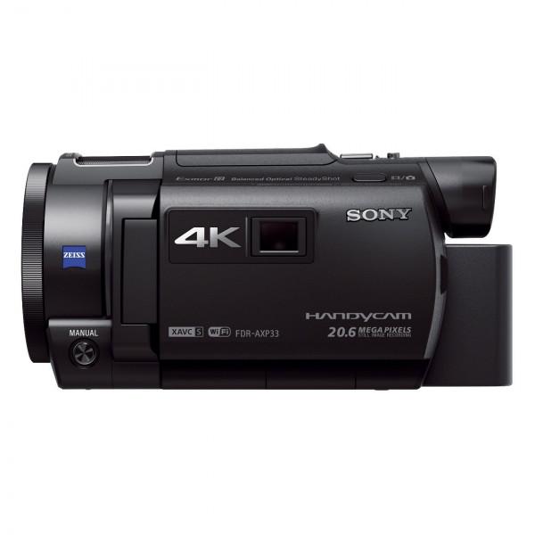 Sony FDR-AXP33 kompakter 4K Camcorder (4K Aufnahmen bis zu 100Mbps, XAVC S Format, 10-fach opt. Zoom, 20x Klarbild-Zoom, Infrarot Aufnahmen dank Nightshot-Funktion) schwarz-316